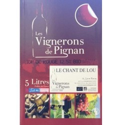 Vin Rouge Bag in Box  Le Chant de Lou AB (5L)